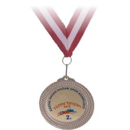 2. lik Madalyası Özel İsim ve Branş Baskılı